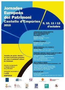 Cartell Jornades Europees del Patrimoni a Castelló d'Empúries 2015
